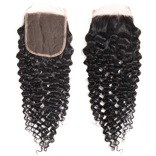 Sunber Hair Brazilian Human Curly Hair 5x5 Free Part Lace Closure Pre-Plucked With Baby Hair