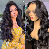 Sunber High-Quality Body Wave 13x4 HD Lace Front Wigs With Baby Hair Human Hair Wigs 180% Density