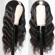 Sunber Free Shipping U Part Wig Human Hair 150% Density Glueless Human Hair Wigs Virgin Hair Body Wave Can Be Permed & Dyed