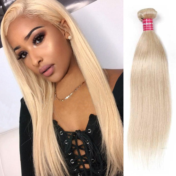 Sunber Hair 613 Blonde Virgin Human Hair Extension Bundles 10-24 Inch 1PCS Straight Hair