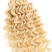 Sunber Hair 3 Bundles 613 Blonde Deep Wave Human Hair Weaves With 4X4 Lace Closure