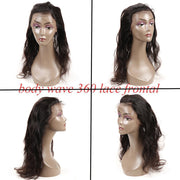 Peruvian Body Wave 3 Bundles with 360 Lace Frontal Closure, 7A Grade Cheap Natural Hair Weave - Sunberhair