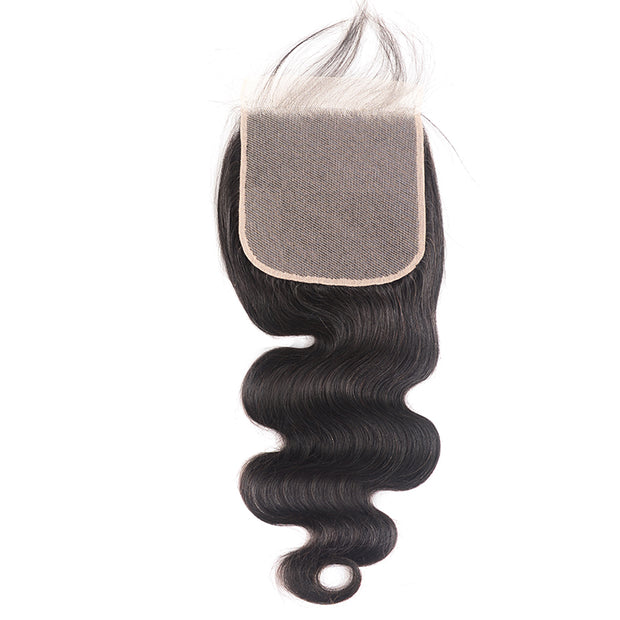 1PC Sunber 6*6 Free Part  Body Wave Hair Closure With Baby Hair