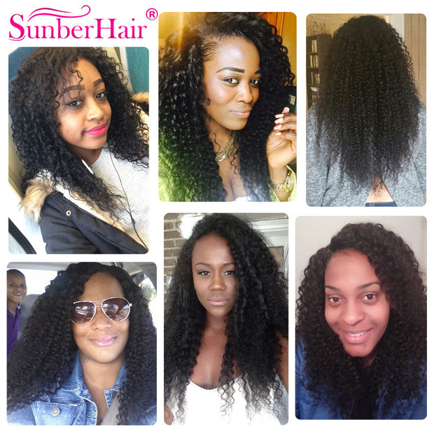 4 Bundles Malaysian Virgin Curly Hair Weaves, 100% Unprocessed Virgin Human Hair - Sunberhair