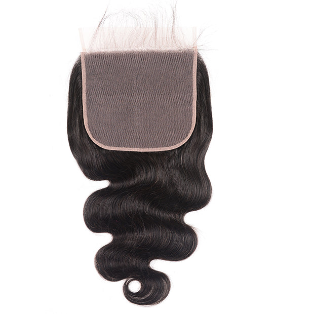 1PC Sunber 7*7 Free Part  Body Wave Hair Lace Closure With Baby Hair
