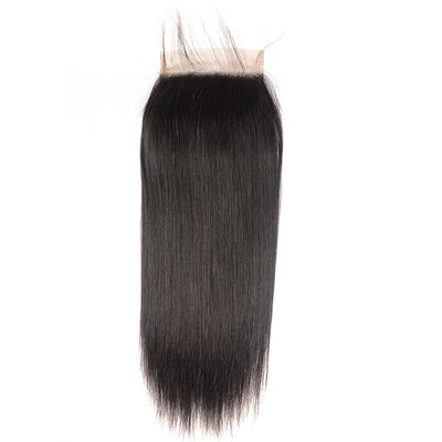 Sunber 7*7 Free Part  Straight Lace Closure with Baby Hair, Peruvian/Malaysian/Brazilian/Indian Hair