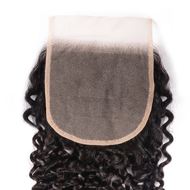 Sunber Hair Curly 5X5 Transparent Lace Closure Hair Extension 10-18 inch 100% Human Remy Hair