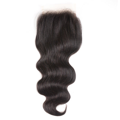 Sunber 1 Bundle 4*4 Transparent Lace Closure Body Wave Free Part