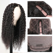 Sunber U Part Wigs Middle Or Side Part 3x1 Open Size U Part Jerry Curly Hair Wigs 150% Heavy Density Free Shipping