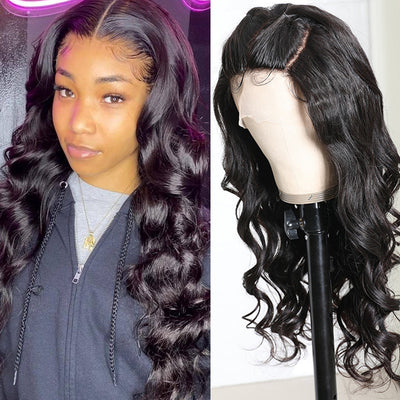 Sunber Body Wave Human Hair Wigs Three Part Lace Wig 150% Density Hand tied Lace Part with Realistic Baby Hair