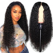 Sunber Hair 9a Grade Natural Pre-plucked Long Curly Lace Front Wigs 100% Human Hair 180% Density
