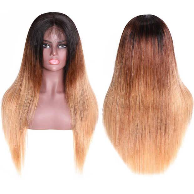 Sunber Omber Hair 9A Grade 13*4 Lace Front Wig omber T427 Human Hair Wig With Baby Hair