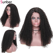 Sunber Hair Bohemian Kinky Curly Lace Front Human Hair Wigs 13x4 Brazilian Pre-plucked Bohemian Lace Wigs 150% Density