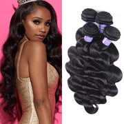 Sunber Affordable Peruvian Remy Human Hair Body Wave Hair 4 Bundles Hair Weaves