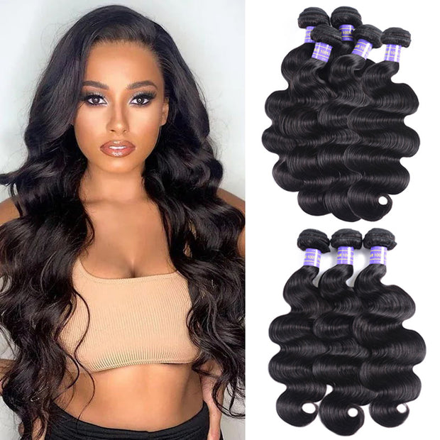 Sunber Instagram Ponytail Flash Sale Body Wave Hair Bulk Order For Wholesale Business 6pc Hair Bundles Free Shipping