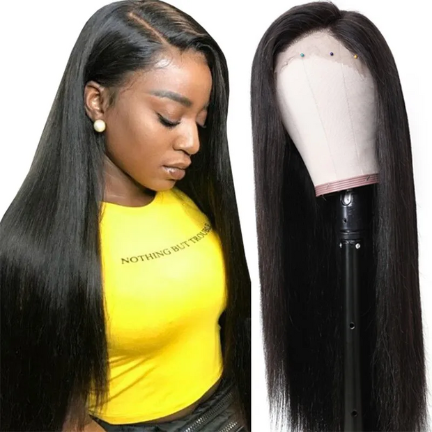 Sunber Silky Straight Hair Weave 3 Bundles With 4x4 Lace Closure Customize Wig 250% Density Human Hair Wig