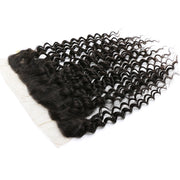 Virgin Deep Wave Hair 13*4 Ear to Ear Lace Frontal, 1pcs, Brazilian/Malaysian/Brazilian Hair - Sunberhair