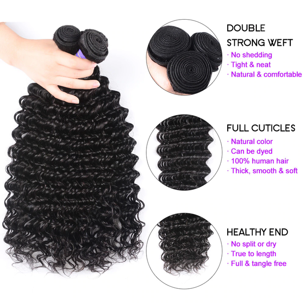 Sunber Affordable Remy Human Hair Deep Wave Hair Bulk Order For Wholesale Business 5pc/10pc Hair Bundles