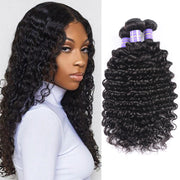 Sunber Hair New Remy Hair Peruvian Deep Wave 3 Bundles Cheap 7A Peruvian Human Hair Weave