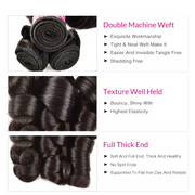 Sunber Hair Brazilian New Funmi Curly Hair Double Drawn Bouncy Curl 3/4 Bundles Human Hair Extensions