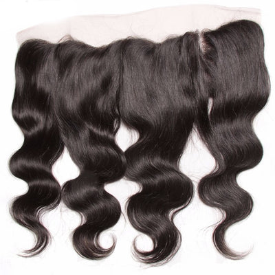 1pcs Body Wave Hair Lace Frontal, 13*4 Ear to Ear Lace Frontal, Peruvian/Malaysian/Brazilian Hair - Sunberhair
