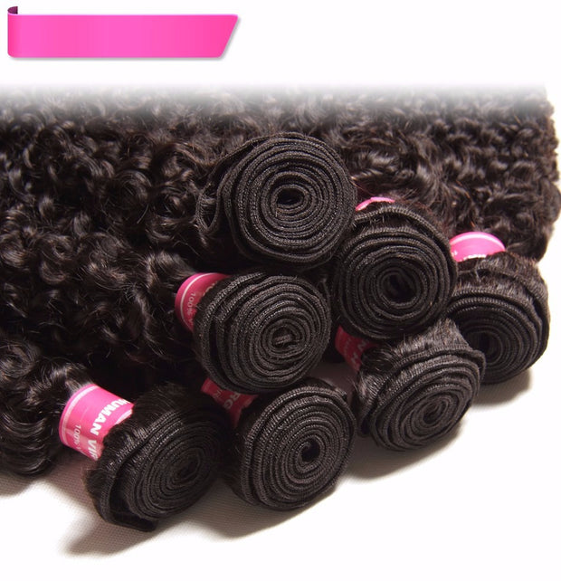 Brazilian Jerry Curly Hair Bundles 3pcs/lot - 100% Human Hair Weaves - Sunberhair