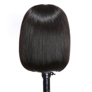 Sunber Short Straight Bob Wigs 4x4 Lace Closure Front Wigs Pre-Plucked Remy Human Hair Wigs 150% Density Fast Shipping