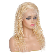 13*4 Lace Front 613 Color Human Curly Hair Wig  Remy Human Hair