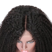Sunber Half 360 Lace Human Hair Wig Kinky Curly 10-24' inches , 150% /180% Density