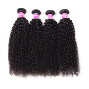 4 Bundles Brazilian Kinky Curly Hair Bundles ,Double Weft  Hair Wave On Sale 100% Human Hair