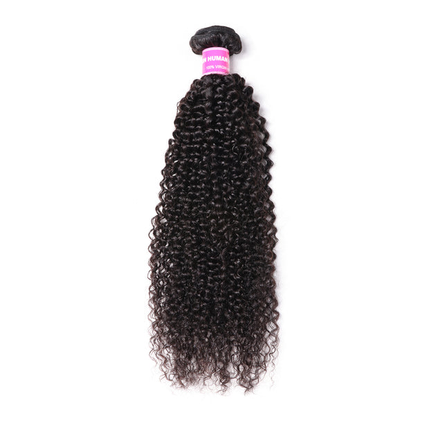 1 Bundle Kinky Curly Human Hair Weaves  100% Human  Hair