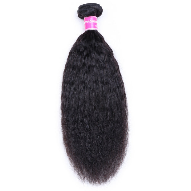 1 Bundle Kinky Straight Human Hair Weaves  On Sale  100% Human  Hair