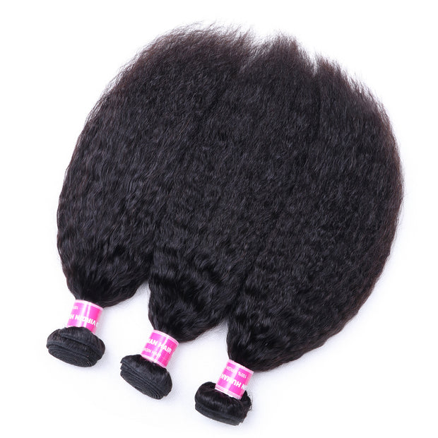 3 Bundles Sunber Brazilian  Kinky Straight Hair  Weft On Sale 8-26 Inches, 100% Human Hair