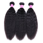 Sunber Hair 3 Bundles Brazilian Kinky Straight Hair  Weft On Sale 8-26 Inches, 100% Human Hair