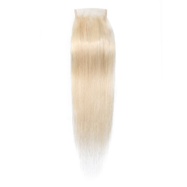 613 Color Human Hair Lace Closure 4*4 Straight Hair Closure