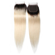 Sunber 1B/613 Color Human Hair Lace Closure 4*4 Straight Hair Closure