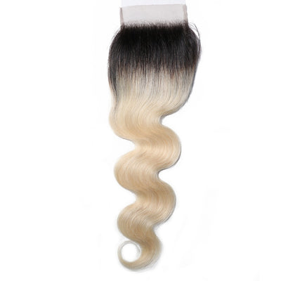 1B/613 Color Human Hair Lace Closure 4*4 Body Wave Closure