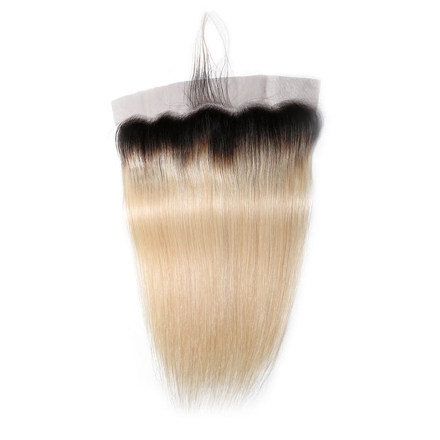 1B/613 Color Human Hair Lace Closure 13*4 Straight Hair Closure