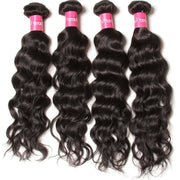 Brazilian Natural Wave Hair 4 Bundles, 100% Virgin Human Hair - Sunberhair