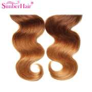 Ombre Brazilian Body Wave Virgin Hair 3/4 Bundles for Sale T1B/4/27 Color - Sunberhair