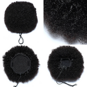 Sunber 9A Afro Kinky Curly Puff For Woman Brazilian Human Hair ponytail  With Adjustable Band And Clips