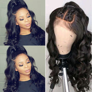Sunber 9A Grade High Quality 13X4 Pre-Plucked Lace Front Wigs Body Wave Human Hair Wigs Fast Shipping