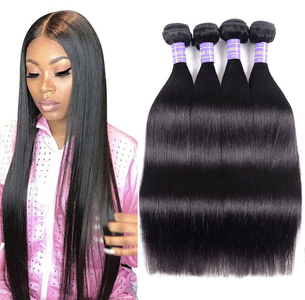 Sunber Affordable Remy Human Hair Brazilian Straight Hair 4 Bundles Cheaper Price on Sale