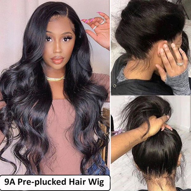 9A Grade Lace Front Human Body Wave Hair Wig 10-28inch, 100% Remy Human Hair Wigs
