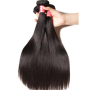 Indian Virgin Straight Hair 3 Bundles with 13*4 Ear to Ear Lace Frontal - 7A Sunber Hair - Sunberhair