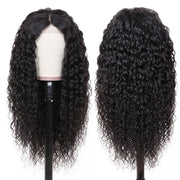Sunber 9A Grade Water Wave Lace Front Human Hair Wigs Brazilian Natural Black Color 130% 150% Density Lace Frontal Wig