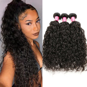 Sunber Hair Brazilian Water Wave Hair Virgin Hair 3 Bundles/pack, Soft&Thick 8A Virgin Human Hair