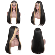 Sunber Hair Lace Front 9a Grade Highlight Straight Human Hair Ombre TL27 Lace Front Human Hair Wigs 130% 150% 180% Density
