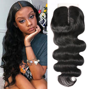 Sunber Hair 4 By 1 Size T Shape Middle Part Swiss Lace Closure 100% Human Hair Lace Closure