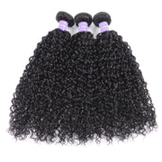 Sunber Hair Remy Human Hair Bundles Deal Indian Virgin Curly Hair 3 Bundles with 4*4 Lace Closure